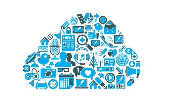 Blue cloud image